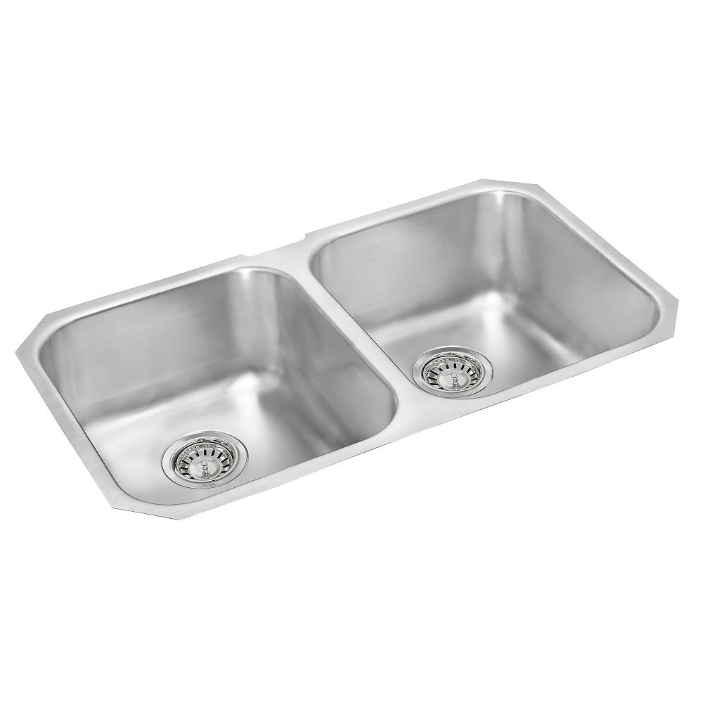 Wessan Double Bowl Undermount Sink - 31 In. x 18 In. x 7 In. Deep