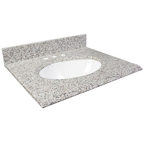 31-Inch W x 22-Inch D Granite Vanity Top in White Ash