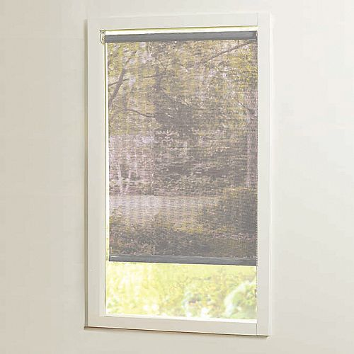 Home Decorators Collection 37 in x72in Grey Cut-to-Size Solar shades
