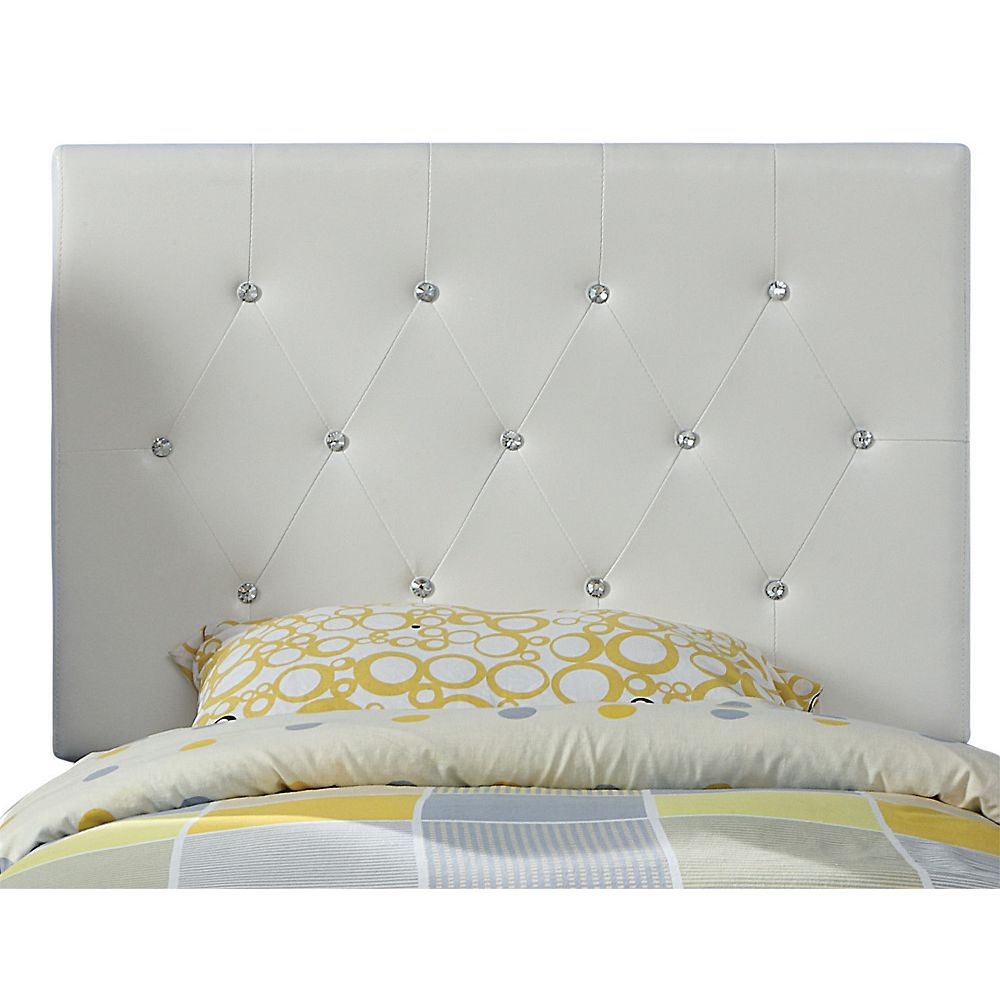 Worldwide Homefurnishings Inc. Glitz 39 Inch Twin Headboard Only-White