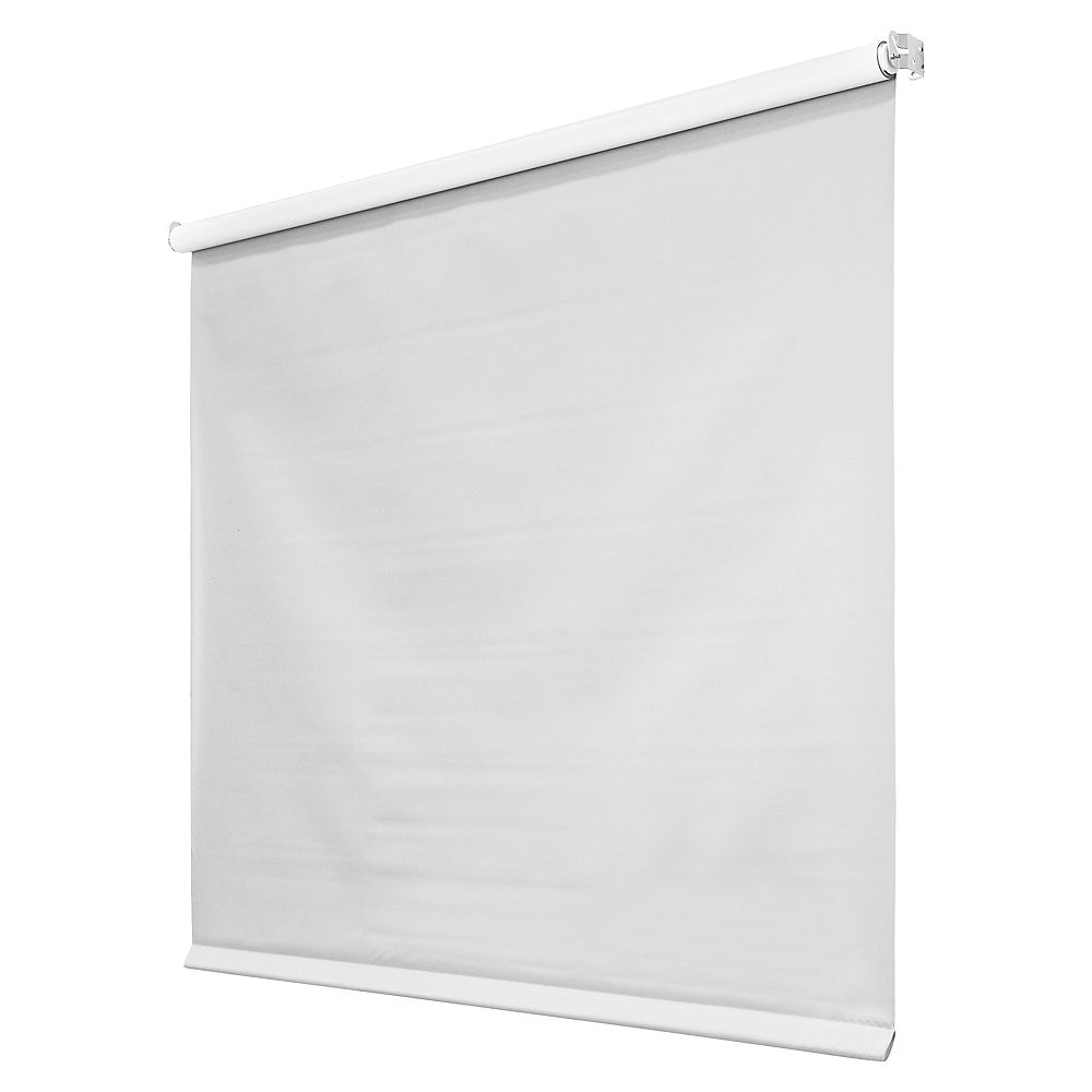 Hampton Bay 55 In X 78in 4mil White Vinyl Roller Shades The Home Depot Canada