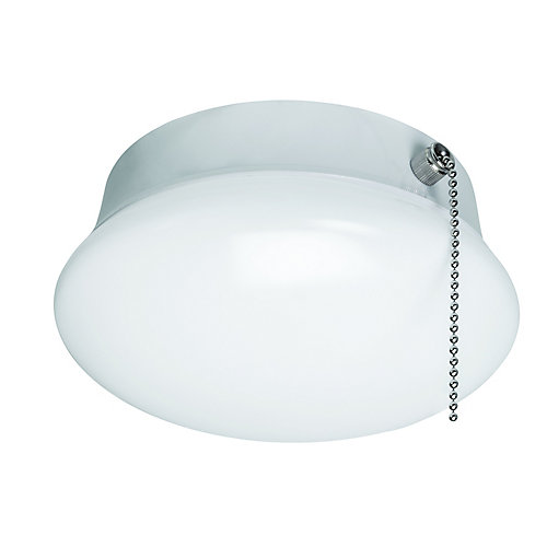 Spin Light 7-inch LED Flush Mount Ceiling Light with Pull Chain 830 Lumens 11.5 Watts 4000K Bright White No Bulbs