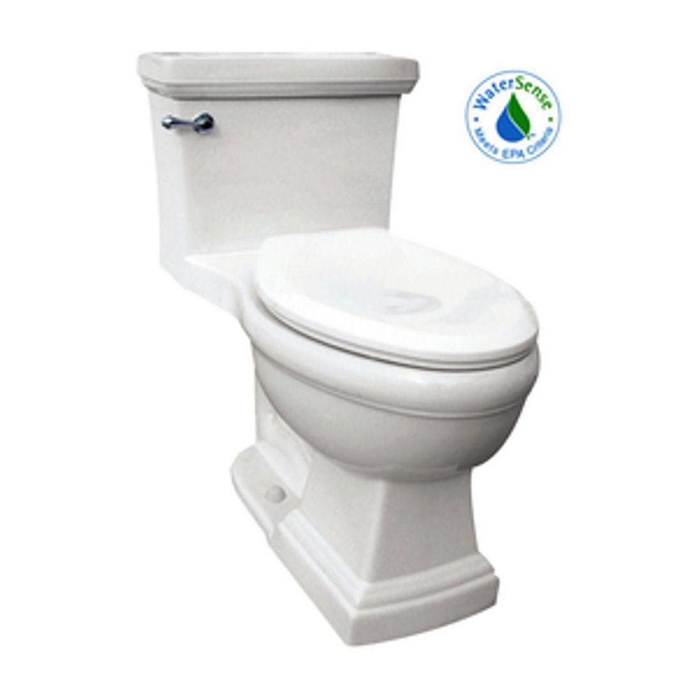 Icera / St Thomas Creations The Presley 1-Piece Single-Flush Elongated Bowl Toilet in White