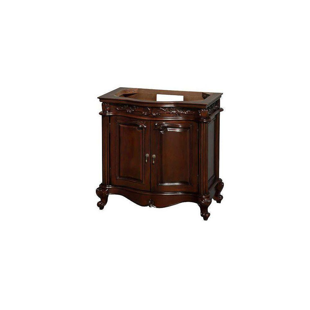Wyndham Collection Edinburgh 36-Inch  Vanity Cabinet in Cherry