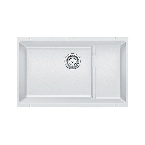 PRECIS CASCADE, Single Bowl Undermount Kitchen Sink, SILGRANIT White