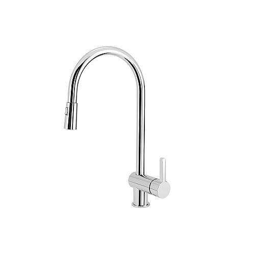 RITA, Pull-down Dual-spray Kitchen Faucet, 2.2 GPM flow rate (Dual-spray), Chrome