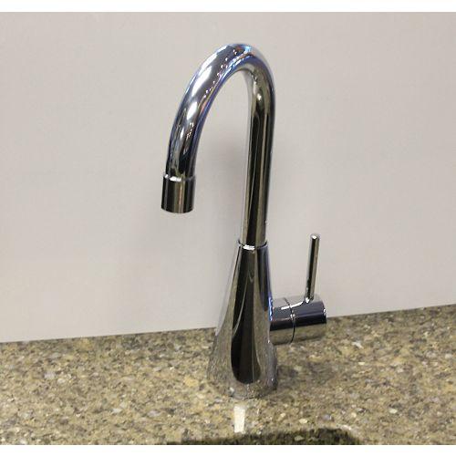 High Arc Bathroom Faucet in Chrome