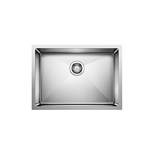 Quatrus R15 U1 Med, Stainless Steel Sink, Single Bowl 9 In., Undermount