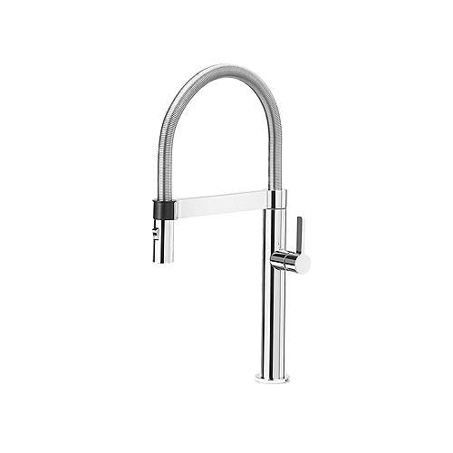BLANCOCULINA MINI, Semi-professional Pull-down Kitchen Faucet, 2.2 GPM (Dual-spray), Chrome