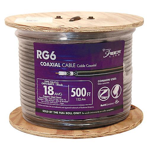 RG6 QUAD RISER BOUCLIER NOIR