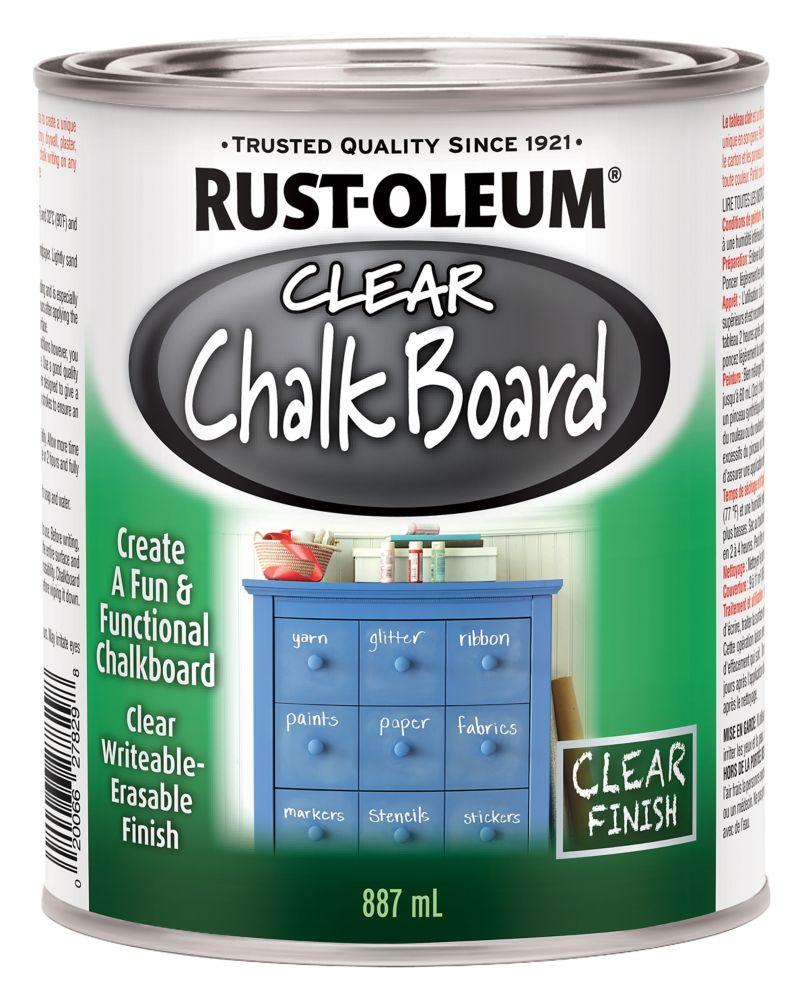 Chalk Board Paint In Flat Clear 887 Ml