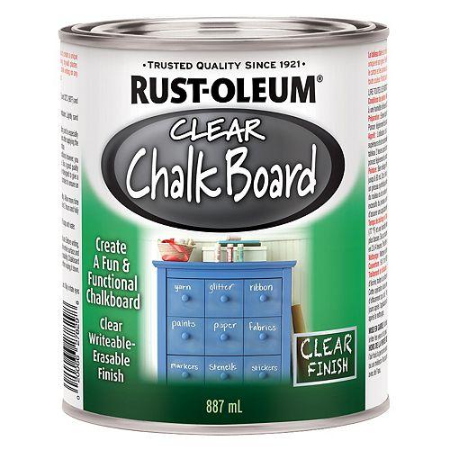 Chalk Board Paint In Flat Clear, 887 Ml