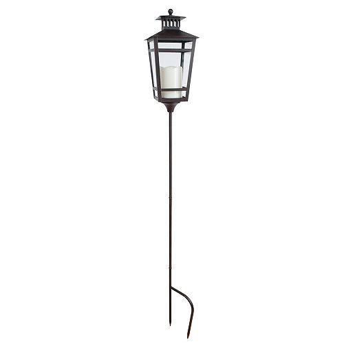 Outdoor Stake Lantern With Flameless Candle (Hamilton Collection)