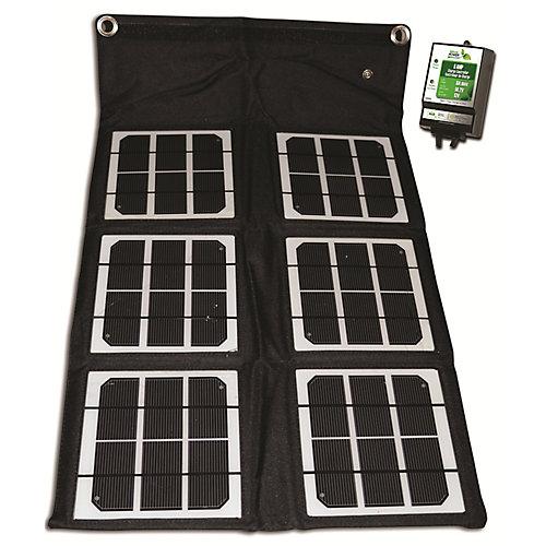 Panneau solaire monocristallin repliable de 18W avec contrôleur de charge de 8ampères
