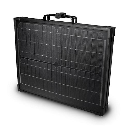 Panneau solaire monocristallin portatif de 120W pour recharge de 12V, repliable en mallette