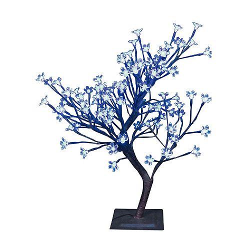 Lumières florales-  Bonsaï de table, 96 lumières  DELS bleues  , pour intérieur\extérieur. 22'' de hauteur , adaptateur CA.