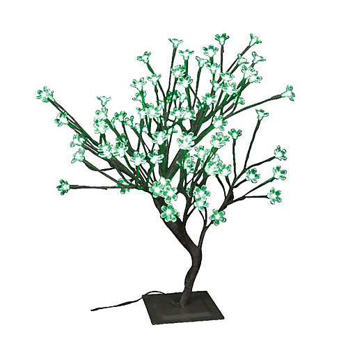 Floral Lights  Table Top Bonsai Tree- Indoor / Outdoor, 96 Green LED Lights, 22 Inch  high, AC adaptor