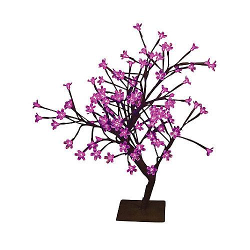 Lumières florales-  Bonsaï de table, 96 lumières  DELS roses , pour intérieur\extérieur. 22'' de hauteur , adaptateur CA.