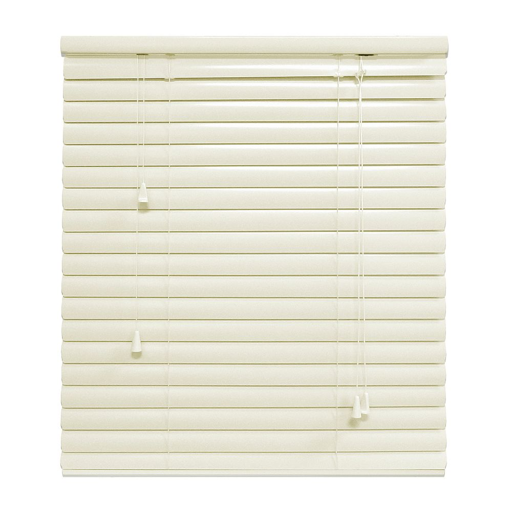 Hampton Bay Alabaster 1 3/8 Inch.  Premium Aluminum Blind  18x48