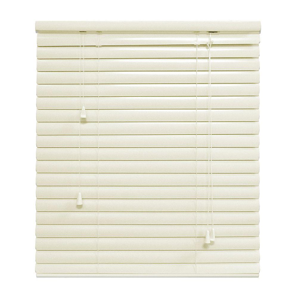 Hampton Bay Alabaster 1 3/8 Inch.  Premium Aluminum Blind 24x72