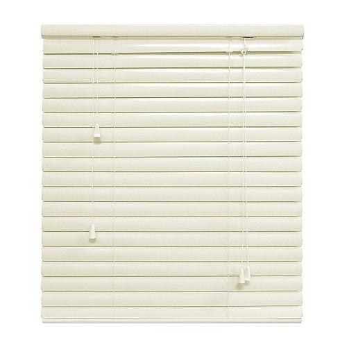 Hampton Bay Alabaster 1 3/8 Inch.  Premium Aluminum Blind 36x72