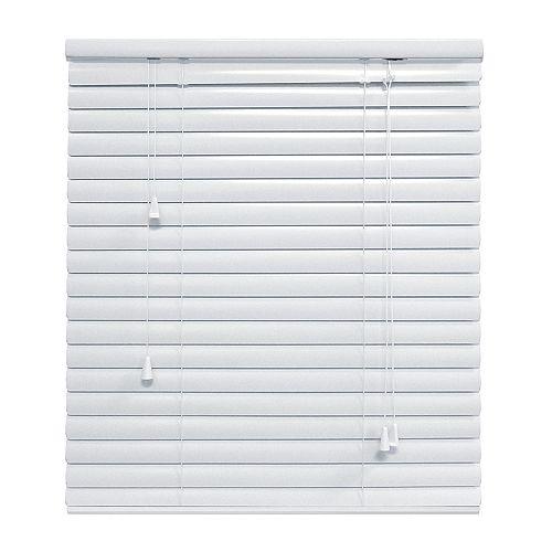 White 1 3/8 Inch.  Premium Aluminum Blind 48x48
