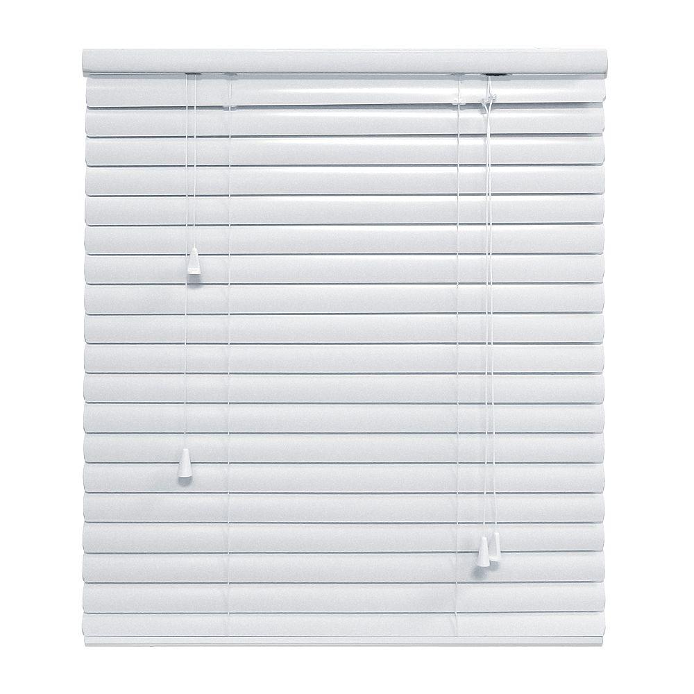 Hampton Bay White 1 3/8 Inch.  Premium Aluminum Blind 66x48