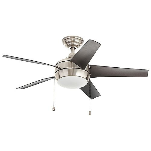 Windward 44-inch LED Brushed Nickel Ceiling Fan with Light Kit