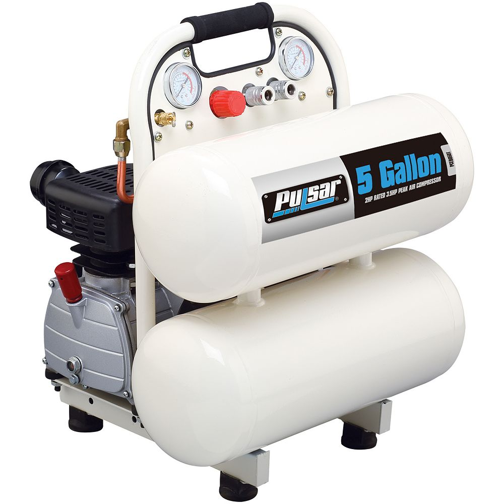Pulsar 5 gallon twin tank Air Compressor