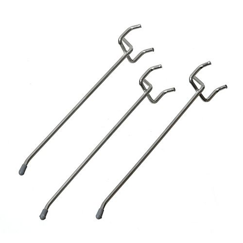 6-in Straight Peg Hooks, 3pcs