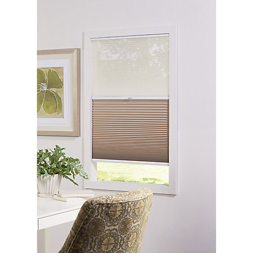 Cordless Day/Night Cellular Shade Sheer/Sahara 60-inch x 48-inch (Actual width 59.625-inch)