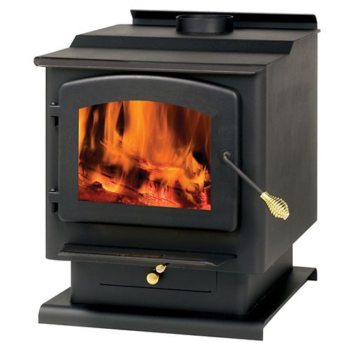 Wood-Burning Stove for up to 2,400 sq. ft. Spaces with 3.5 cu. ft. Firebox