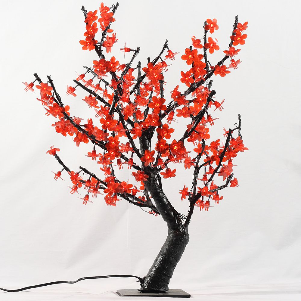 Hi-Line Gift 32 -inch  Red LED Lighted Tree with 196 LEDs, AC Adaptor
