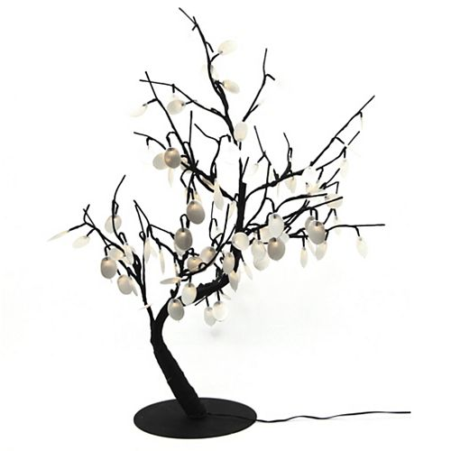 Floral Lights  Lighted Silver Dollar Bonsai tree with 96 LED bulbs, Indoor only, 32 Inch  high, AC Adaptor