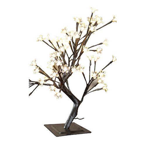 Lampe florale de table bonsaï d'intérieur/extérieur, 96 ampoules blanc chaud à DEL, 22 po