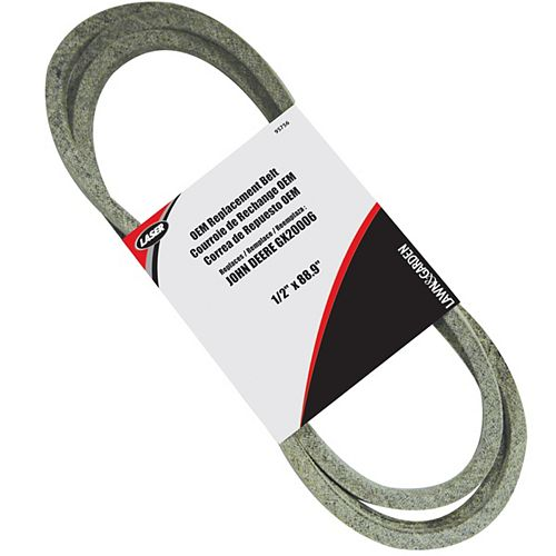 1/2-inch x 88.9-inch Deck Drive Belt to Replace GX20006
