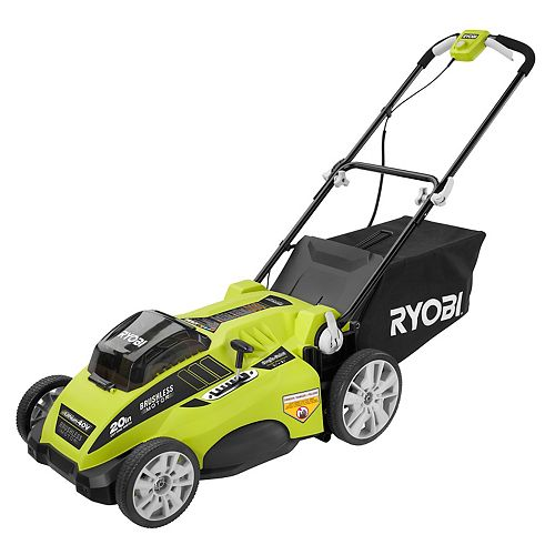 20-inch 40V Brushless Lawn Mower with Two 4.0 amp Batteries