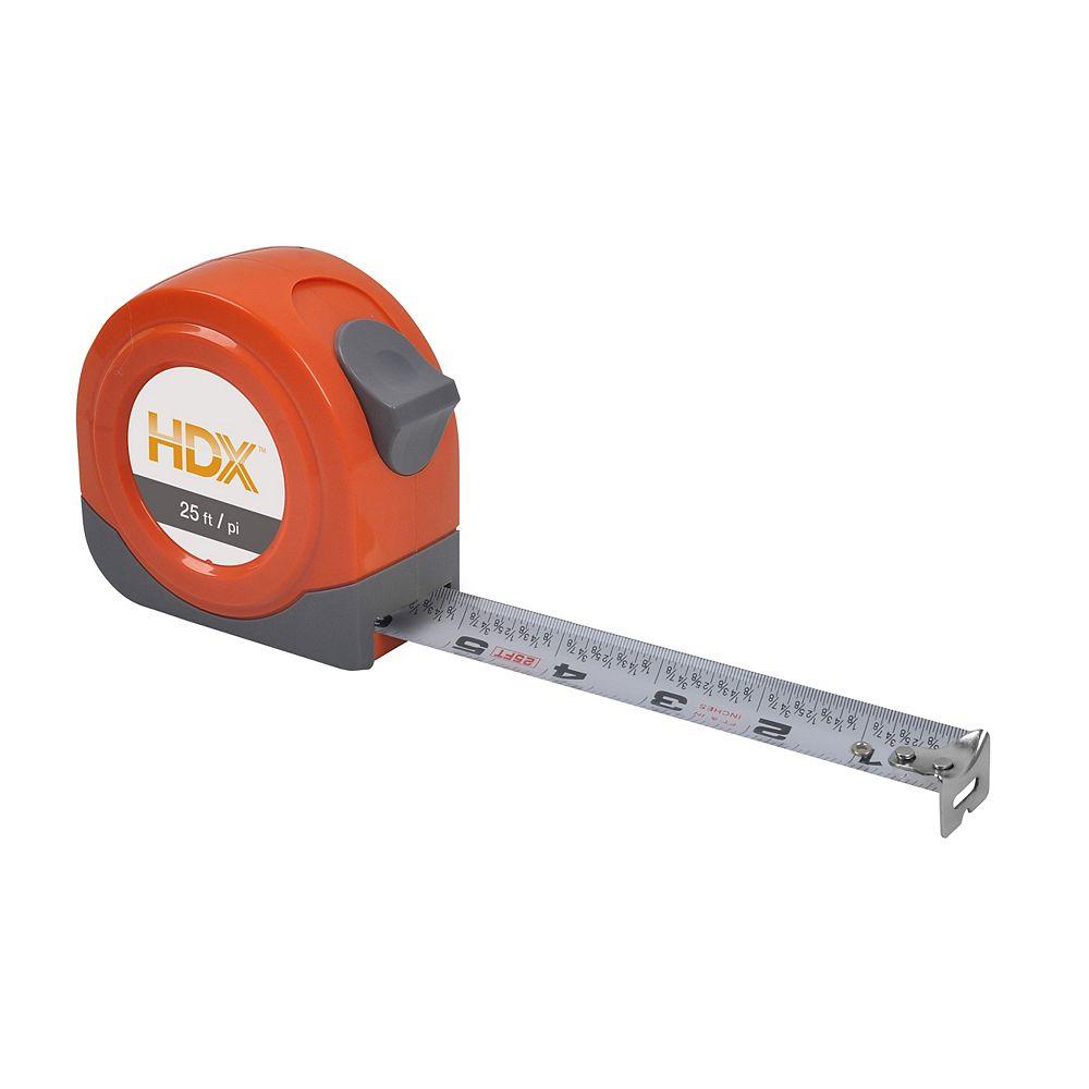 HDX 25 Feet Tape Measure W/ Fractional Blade