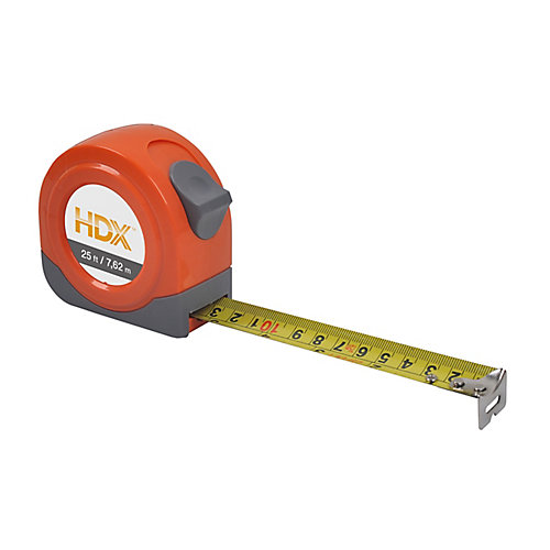 7.5m/25 Feet Tape Measure W/ Sae/Mm Blade