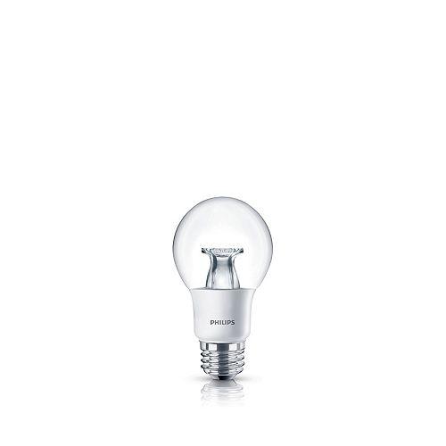 Philips LED 40W A19 Clear Soft White WarmGlow (2700K - 2200K) - ENERGY STAR®