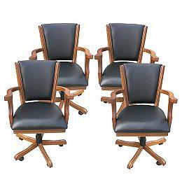 Kingston Oak Poker Table Arm Chair  - (Set of 4)