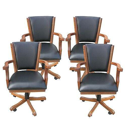 Kingston Oak Poker Table Arm Chair  - (Set of 4)