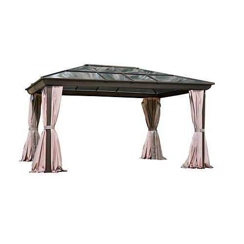 Venus Gazebo 12 Ft. x 16 Ft. in Brown