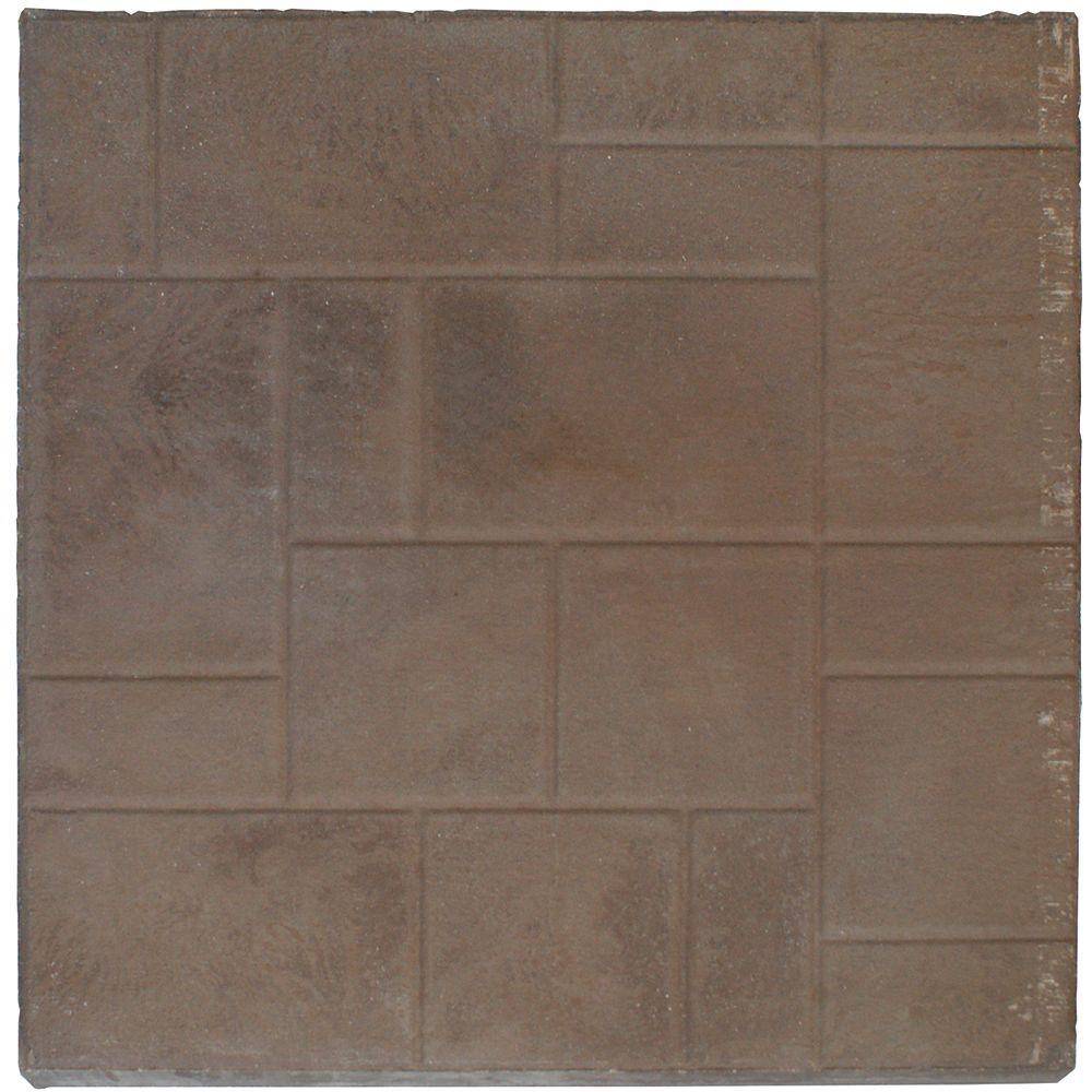 Cindercrete Dalle de terrasse - 24x24 - Apparence aléatoire - Brun