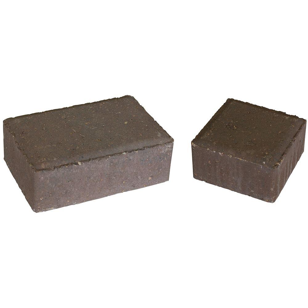 Cindercrete Cobblestone Paver Set - Walnut