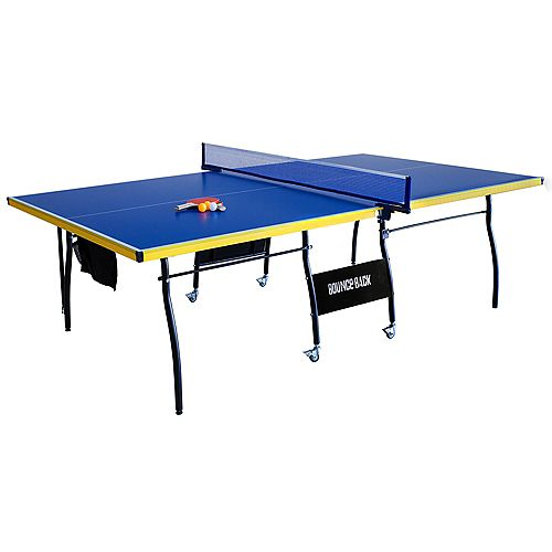 Bounce Back Table Tennis - Regulation-Sized 9-Foot with Foldable Halves for Individual Play