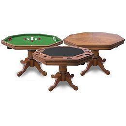 Kingston Oak 3-in-1 Poker Table