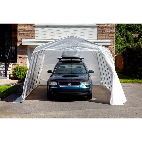 Bronco 11 ft. x 16 ft. Car Shelter with Clear Roof