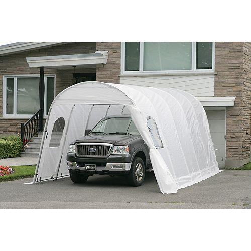 Jaguar 12 ft. x20 ft. Car Shelter with White Roof & Straps