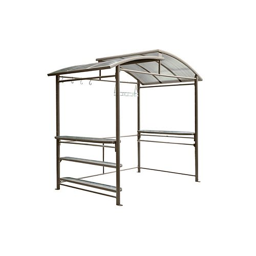 5 ft. x 8 ft. Grill Gazebo in Dark Chocolate